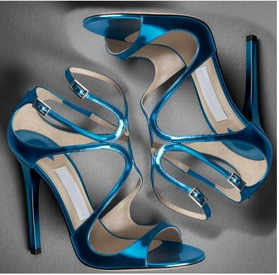 Chaussures Hauts Bout Sangle Afficher Pic Talons Multi Sexy Sandales Design Croix Pic Discothèque De as couleur attaché As Ouvert Femmes Mode Marque Boucle À qWAFanHH