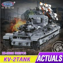 XingBao 06006 3663Pcs Creative MOC Military Series The KV-2 Tank Set compare Legoing Building Blocks Bricks Toys as Boys gifts