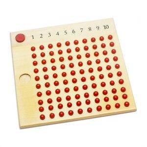 Image 3 - Matériaux Montessori en bois, jouets denseignement des mathématiques, Multiplication et Division de jouets mathématiques, planche à perles apprentissage rouge vert