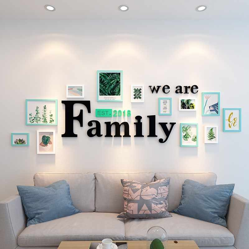 Modern Photo Frame For Wall Decoration 12 pcs/set Rectangle Picture Frame With Letter Photo Frame For Picture Wall Art Foto Set