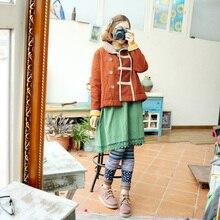 2016 новый мори девушка старинные национальные тенденции питер пэн воротник антресоль с рукавами ватные — хлопка-ватник лучших верхняя одежда