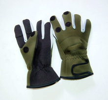Waterproof  Winter Fishing Glove Thicken Warm 3 Fingers Cut Expose Out Lure Glove Neoprene