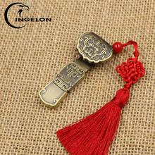 Retro Fashion USB Flash Drive Pendrive 16gb 32gb Disk on Key Cle USB Luckly Pendrive Personalised Customized Craft DIY Brand U Disk