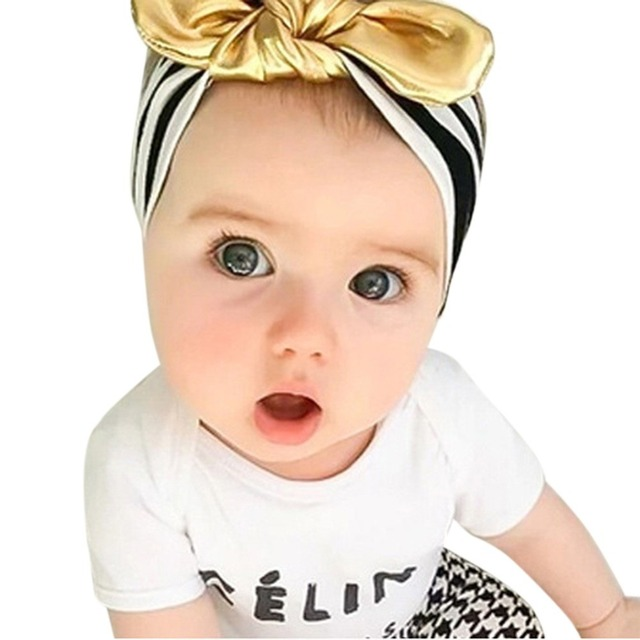a5919f82c83 1PCS Baby Girls Toddler Newborn Dots Turban Knot Rabbit Ear Hairband  Headwear Headwrap Hair Band Accessories