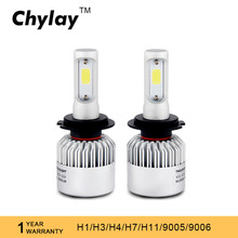 1Set Car Led Headlights Bulb H4 Led H7 H11 H1 H3 9005 9006 9007 H13 COB Chips High Low Beam Bulb Auto Bulb Headlamp 6500K Light