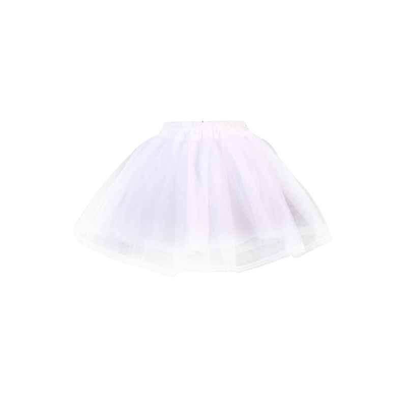 ผู้หญิงคู่ชั้นสีทึบสั้น Tulle Petticoats เอวยางยืดสายตาข่ายกระโปรง Crinolines สำหรับงานแต่งงานชุด