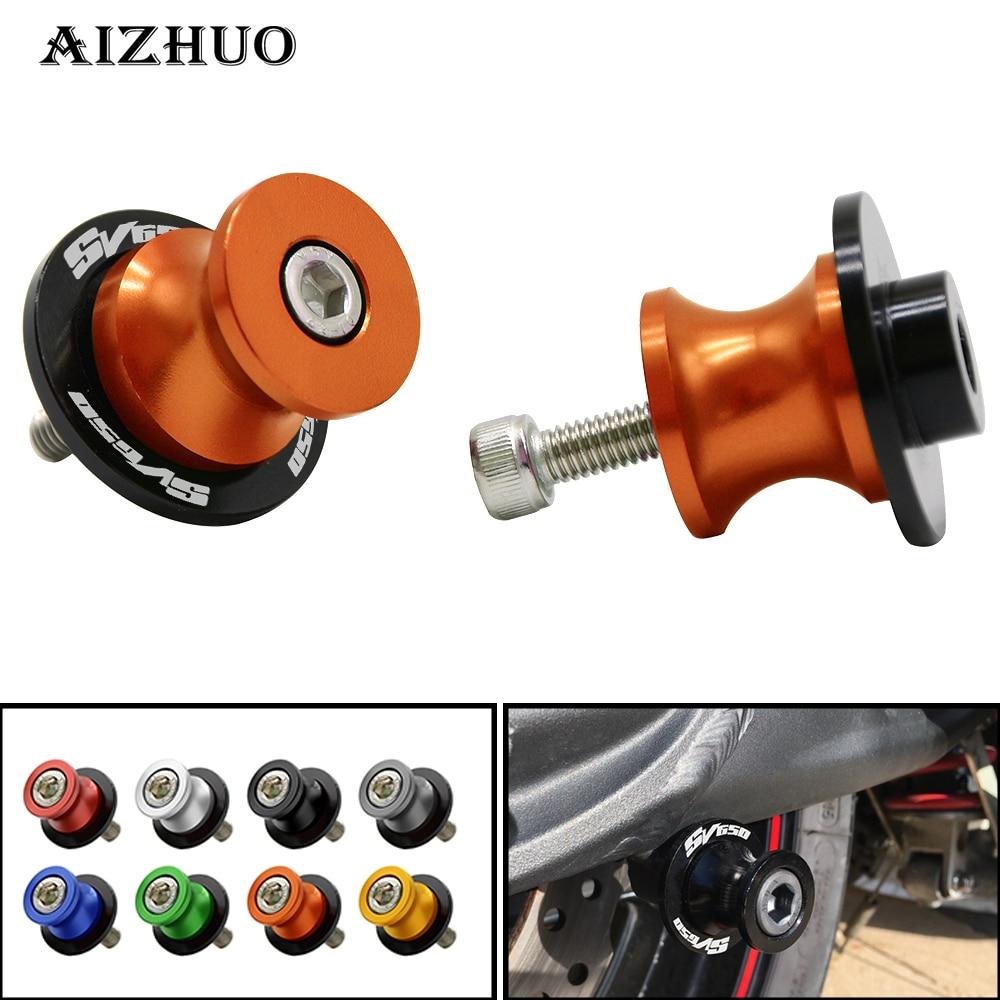 For SUZUKI SV650/S SV650S SV650 All Year 8mm CNC Aluminum Motorcycle Swingarm Spools Slider Swingarm Stand