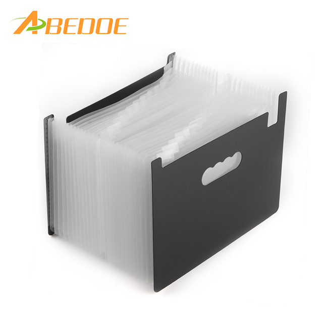 a8efce2d9b58 US $13.9 35% OFF|ABEDOE Portable Accordion File Folder 24 Pockets Expanding  File Folder A4 Expandable High Capacity Business File Organizer-in Home ...