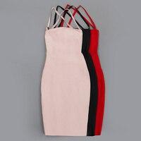 높은 품질의 새로운 패션 2017 디자이너 파티 드레스 여성의 고삐 목 끈 등이없는 섹시한 Bodycon 붕대 드레