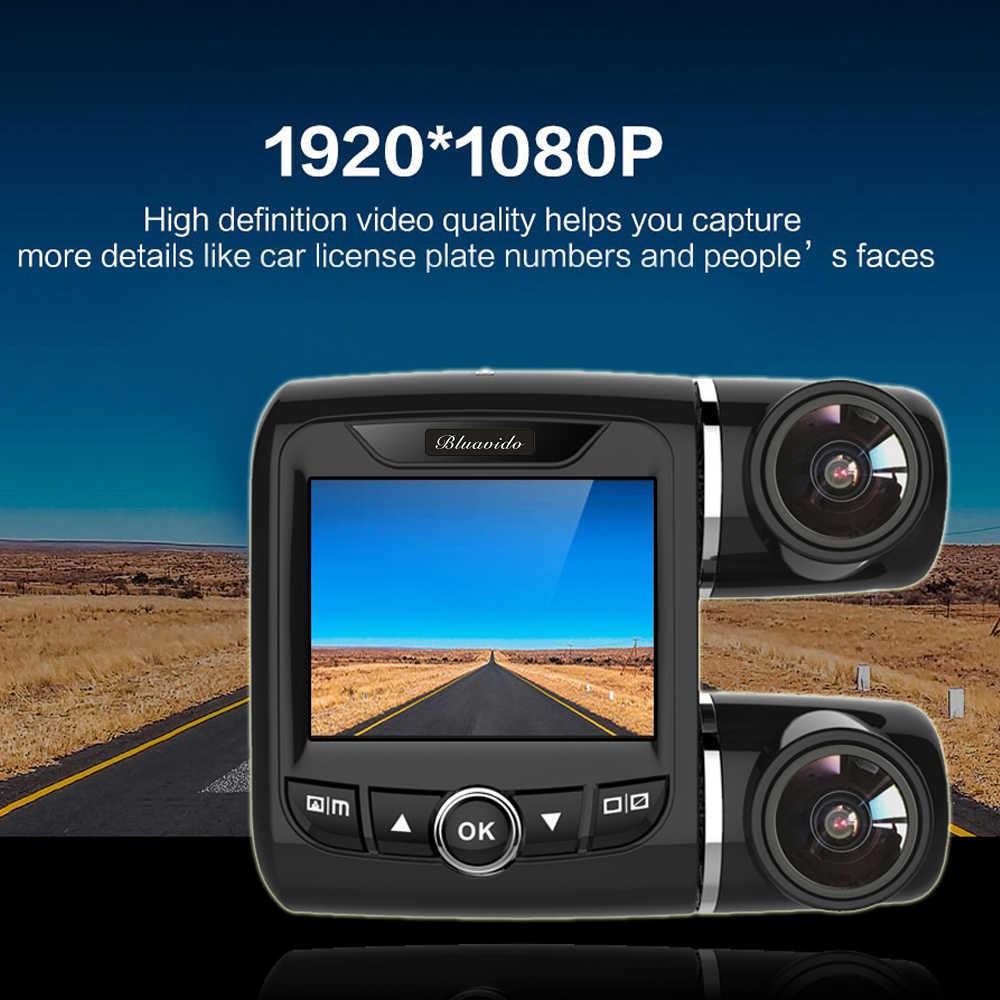 Двойной объектив Автомобильный видеорегистратор 360 градусов панорамный видео камера регистраторы Новатэк 96655 Dashcam Full HD 1080 P регистраторы ночное видение