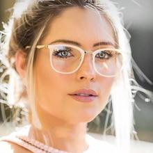 d84d68d96 ANEDF Novo 2018 Do Vintage Vidros do Olho Óptico óculos Mulheres Quadro  Oval do Metal Unisex