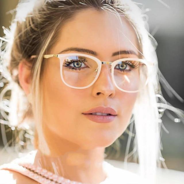 ANEDF New 2018 Vintage Optical Eye Glasses Women Frame Oval Metal Unisex Spectacles Female Eyeglasses oculos de Eyewear