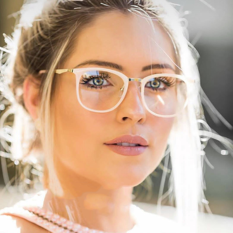 BUKE New 2018 Vintage Optical Eye Glasses Women Frame Oval Metal Unisex Spectacles Female Eyeglasses oculos de Eyewear