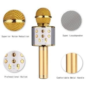Image 5 - WS 858 Bluetooth Kablosuz Karaoke el mikrofonu USB KTV Çalar Bluetooth Mic Hoparlör Kayıt Müzik