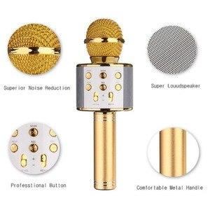 Image 5 - WS 858 Bluetooth Wireless Karaoke Handheld Microphone USB KTV Player Bluetooth Mic Speaker Record Music