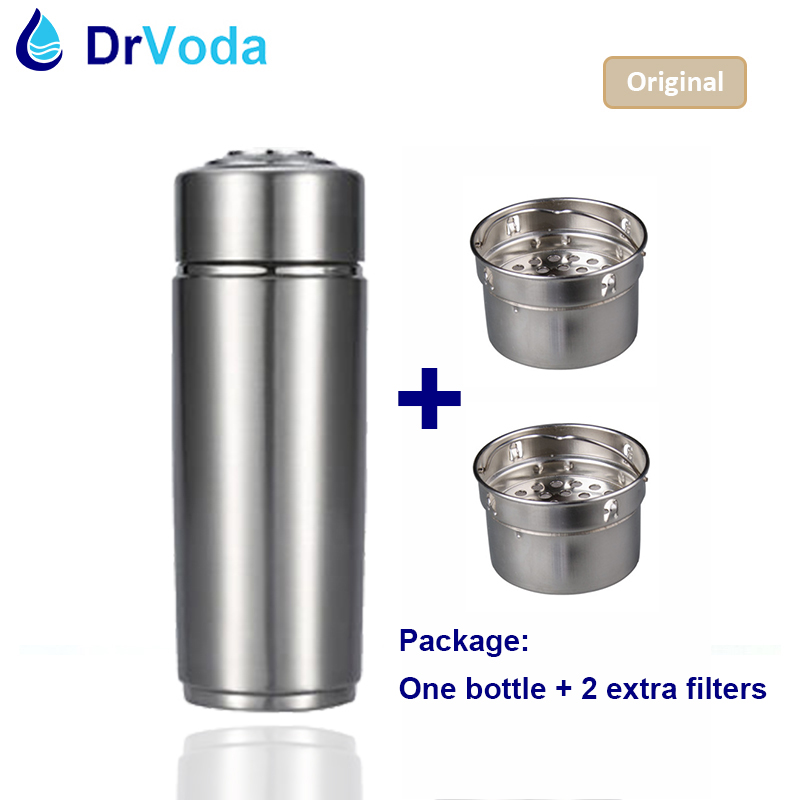 Alkaline Hydrogen Water Stick Portable Ionizer Bottle 2 Spare Filters Carry Bag Alkaline pH ORP antioxidant