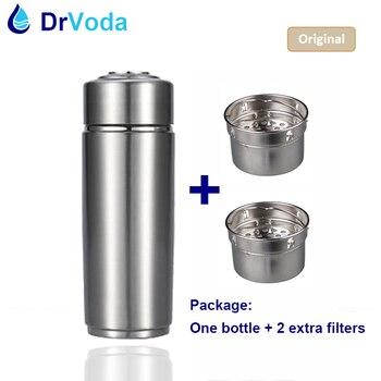Alkaline Hydrogen Water Stick Portable Ionizer Bottle + 2 Spare Filters + Carry Bag Alkaline pH ORP antioxidant water ionizer