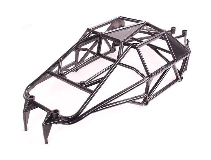 Completa Proteção Interna Roll Bar Gaiola para 1/5 HPI KM Rovan Baja Terminator 5 T 5SC T1000 Caminhão