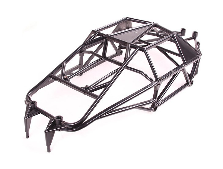 Rovan Baja Internal Roll Bar Cage HPI 5T 5SC Terminator KM T1000 1/5 Truck rovan baja alloy roll cage in black 95003