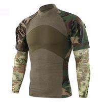 Men Military Summer Camouflage T Shirt Tactical Long Sleeve Cotton Generation Combat Frog Shirt Men Training Shirts Army Uniform