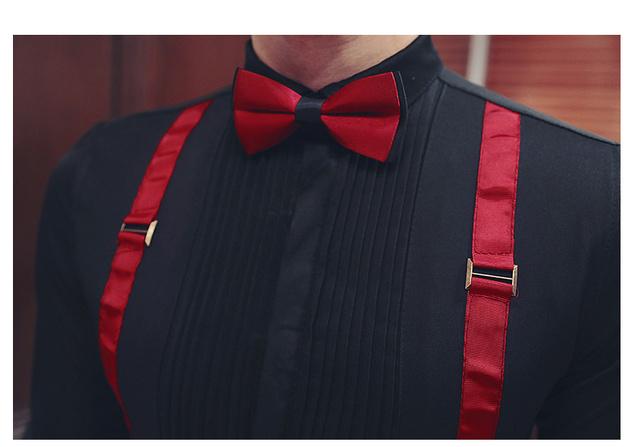 Men Pleat shirt with bowtie stylish wedding party