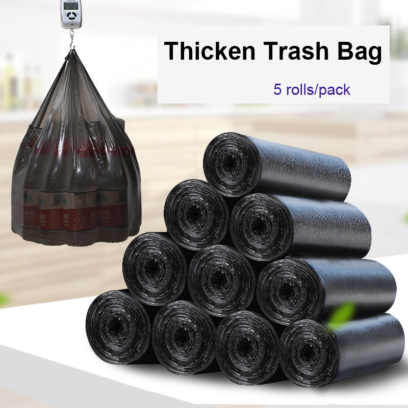 TCHY 100pcs 45x60CM Big Size Garbage Bags Multi Color Thicken Convenient Environmental Cleaning Waste Bag Plastic