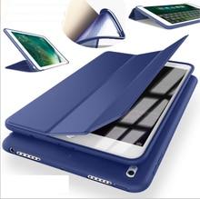 Suave de silicona de nuevo caso de cuero de LA PU para el ipad de apple pro 10.5 cubierta delgada del tirón tpu flexible magnético elegante del caso protector de la piel