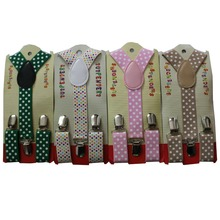 HUOBAO 2017 New Cute Kids Toddle Clip On Adjustable Dot Braces Suspenders For Boys Girls