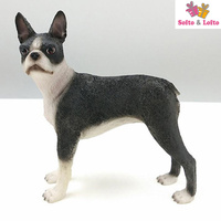 NEW American Boston terrior dog figure,car styling home room decoration,quality doggy puppy article Christmas birthday gift toy