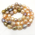 16 inches 7-8mm Multicolor Drusy Baroque Freshwater Pearl Loose Strand