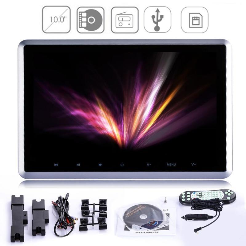 10 pouces numérique TFT LCD écran Auto voiture appui-tête moniteur lecteur DVD intégré IR/FM/haut-parleur avec disque de jeu HDMI télécommande