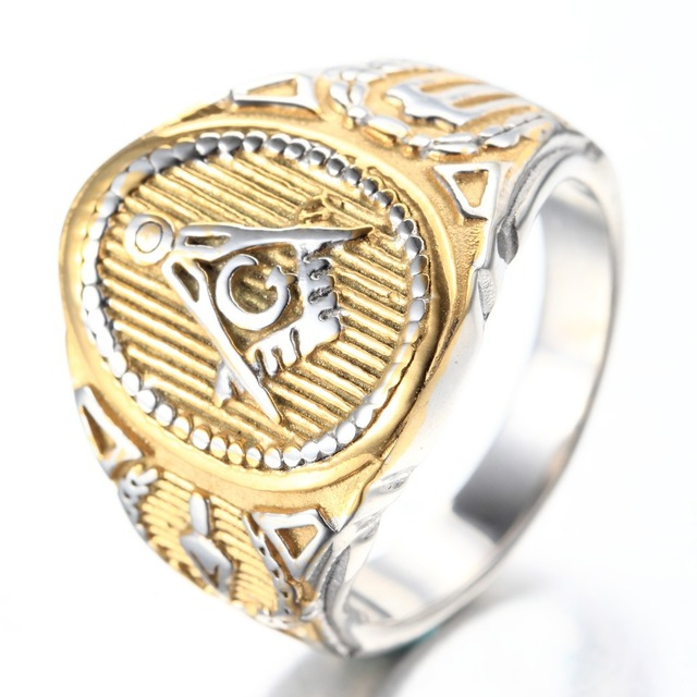 Bling Jewelry Mens Freemason Masonic Stainless Steel Ring WJvMX