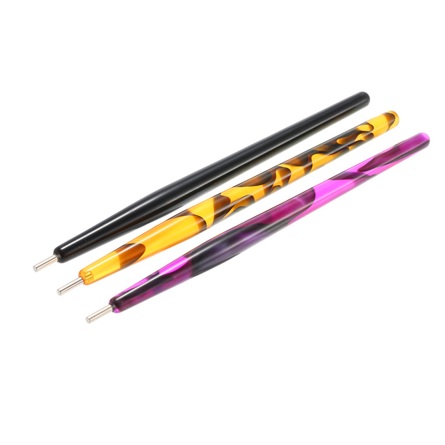 1pc Nail Dotting Pen Crystal Beads Handle Rhinestone Studs Picker Wax Pencil Manicure Dotting Tools Magnetic Cats Eyes Polish