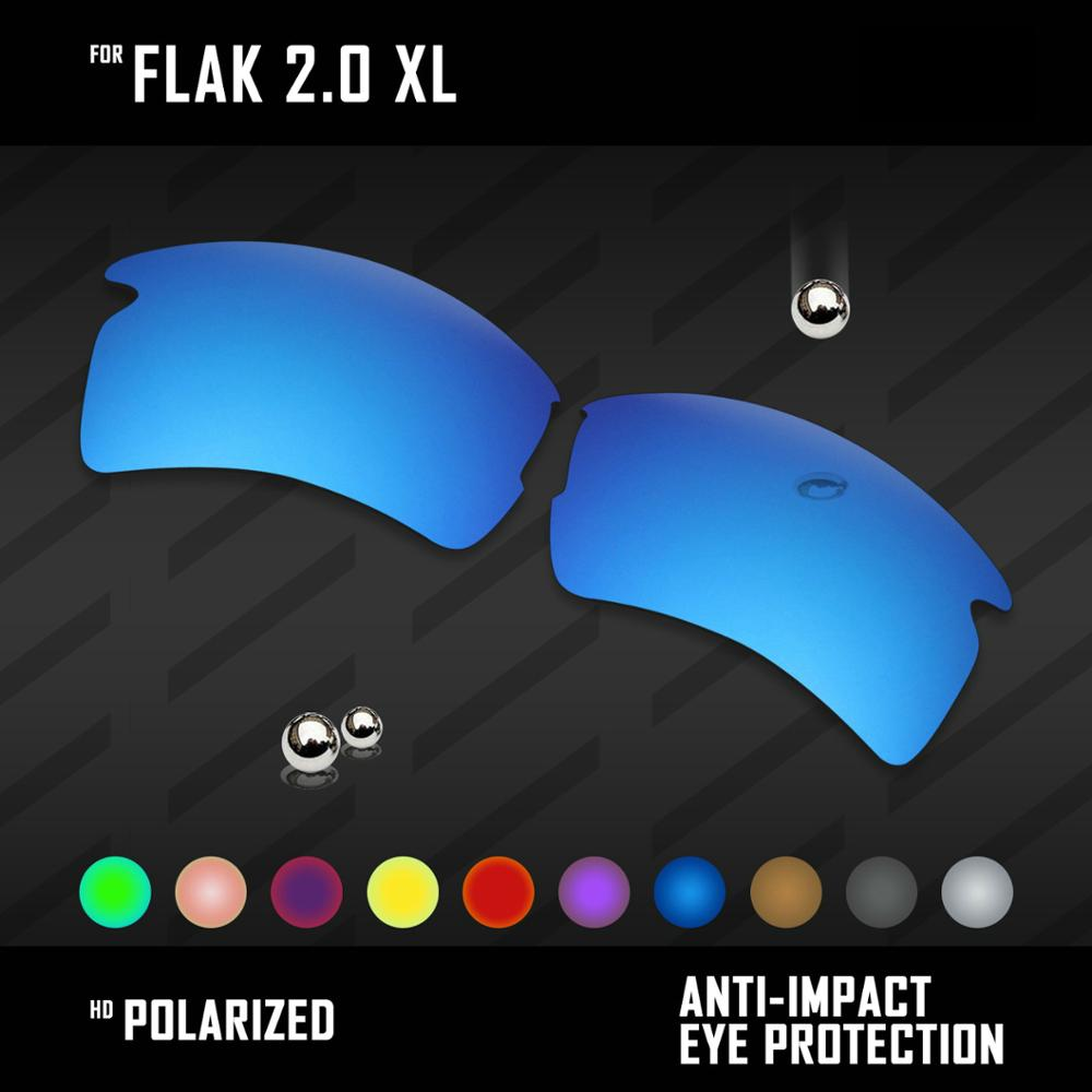 OOWLIT Lenses Replacements For Oakley Flak 2.0 XL OO9188 Sunglasses Polarized - Multi Colors