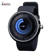 2016 Enmex regalo de los hombres de los hombres de las mujeres creativas de diseño reloj de fuego azul respirar libremente correa deportes moda casual relojes de cuarzo