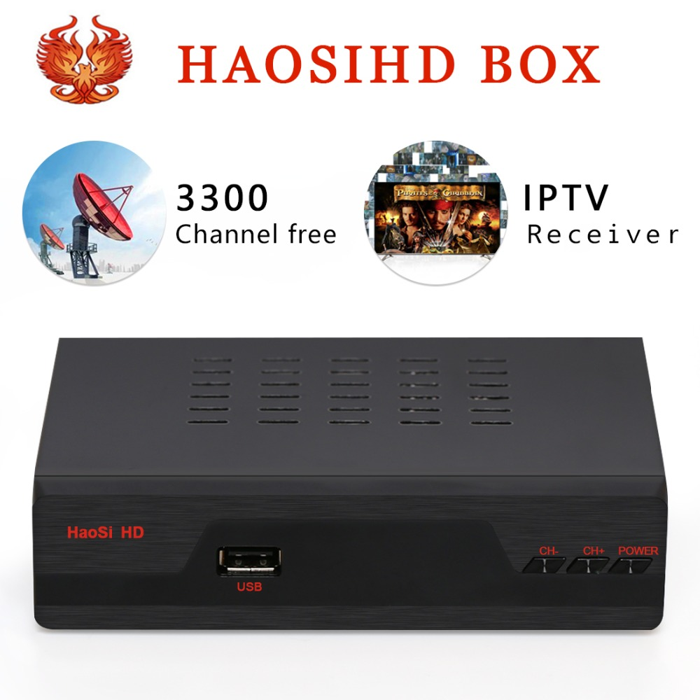 US $35 55 10% OFF|New/ Renew HAOSIHD R1 IPTV box receiver free 3300  channels europe Netherlands portugal belgium ireland live tv with VOD-in  Satellite