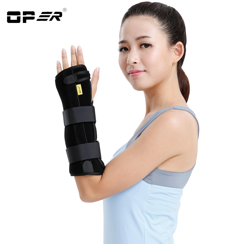 Oper Medical Wrist Brace Support Splint For Sprain Carpal Tunnel Syndrome Arthritis Recovery Fracture Fixation 2018 Rushed sport cotton wrist brace wrap support black