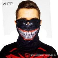 3D Ludzkie Narty Na Zewnątrz Szalik Motocyklowe Biker Bandana Szalik Rury Maska Maska Mężczyźni Magia Turban Wrap Animacja Wyzna