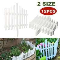 12PCS Plastic Garden Fence Courtyard Indoor Edging Border Fencing Panel Outdoor Yard Garden Decorations DIY Easy Assemble