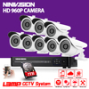 8 Channel 1080N DVR 2500TVL 960P HD Outdoor Security Camera System 8CH HDMI 1080P DVR CCTV