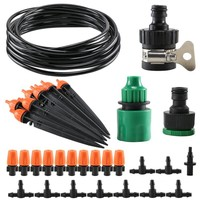 10M Garden Irrigation System Automatic Drip And Micro Sprinkler Kit Patio Yard Plant Vegetabel Berry Landscape