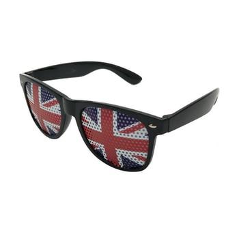 Pin agujero gafas Bandera Nacional Accesorios de fiesta suministros de decoración arroz uña Retro gafas para juegos L3