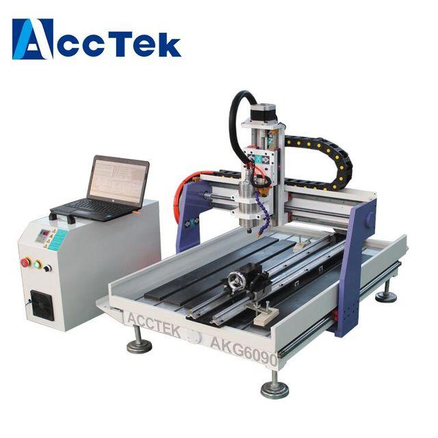 Small Cnc Mill >> Acctek Small Cnc Milling Machine For Sale 6090 Desktop 3 Axis Cnc