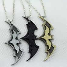 new arrival fashion link chain necklaces Batman pendant necklaces Movie Jewelry Super hero Bat Design Necklace 10pc/lot