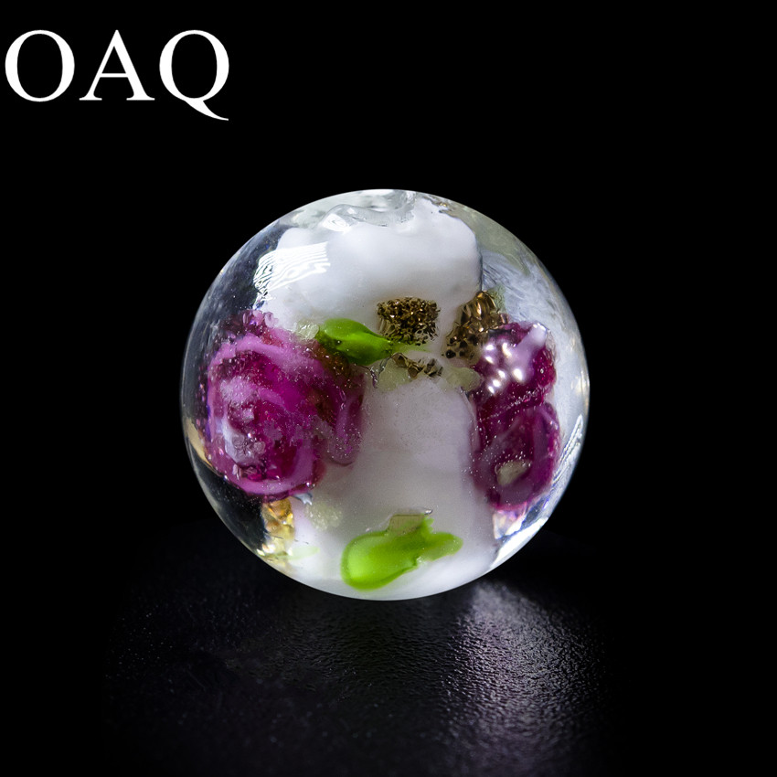 10mm 36pcs Lotus Glass Beads Round Loose Lampwork Beads To Make Bracelets Spacer Beads For Jewelry Making long yi lotus garnet bracelet bracelets jewelry beads jewelry and accessories to carry 8000437