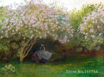 artwork for home Lilacs Grey Weather Claude Monet artwork Hand painted High quality