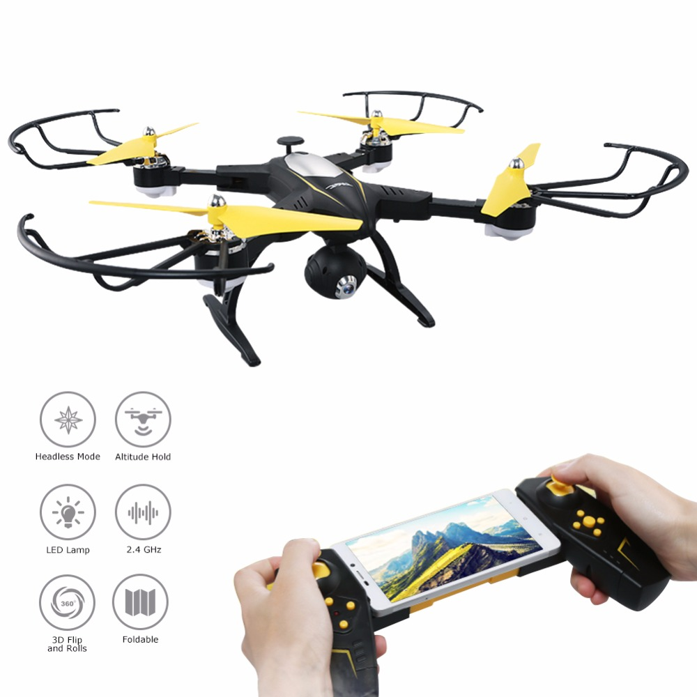 JJRC H39 RC Drone with WiFi 720P HD Camera LED Altitude Hold Headless Mode 3D Flip 2.4GHz 4CH 6Axis Gyro APP Control Quadcopter