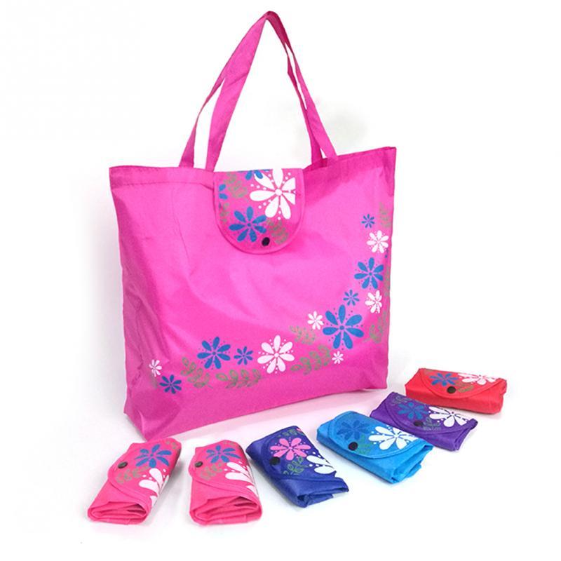 Environmental Storage Bag Handbag Strawberry Foldable Shopping Bags Reusable Folding Grocery Nylon Eco Tote Bag