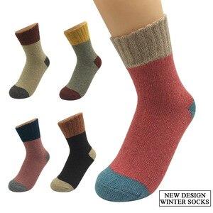 Image 5 - 5 пар/лот, толстые шерстяные носки, женские зимние кашемировые хлопковые теплые носки, очаровательные женские носки