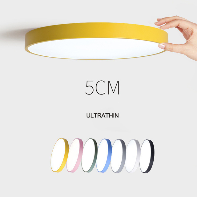 Ultra-thin Creative Colored Circular LED Ceiling Lamp Children's Room Lighting Ceiling Lights Kindergarten Exhibition Hall Lamp
